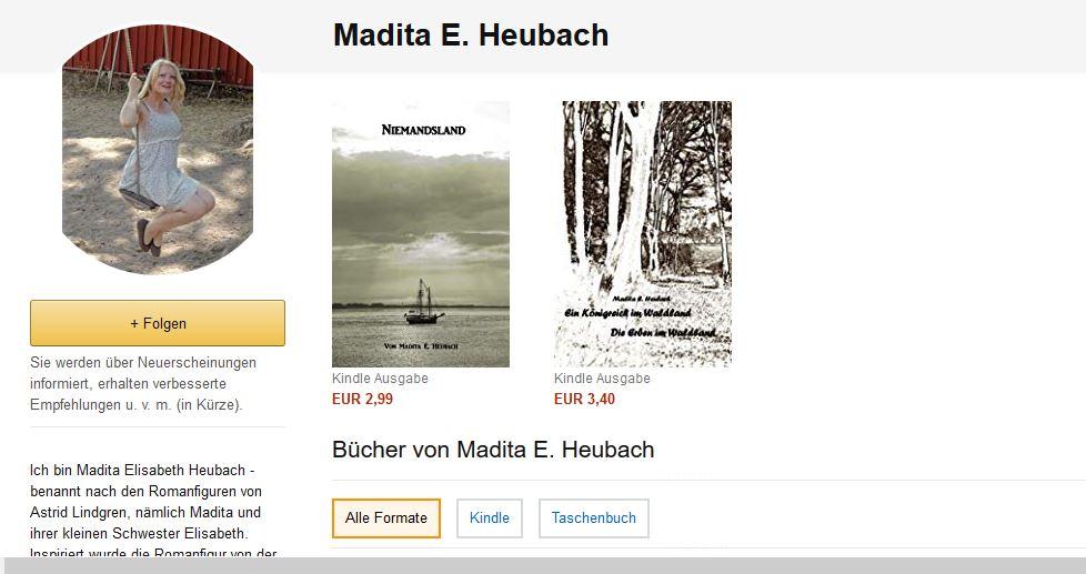 Mein Autorenprofil auf Amazon