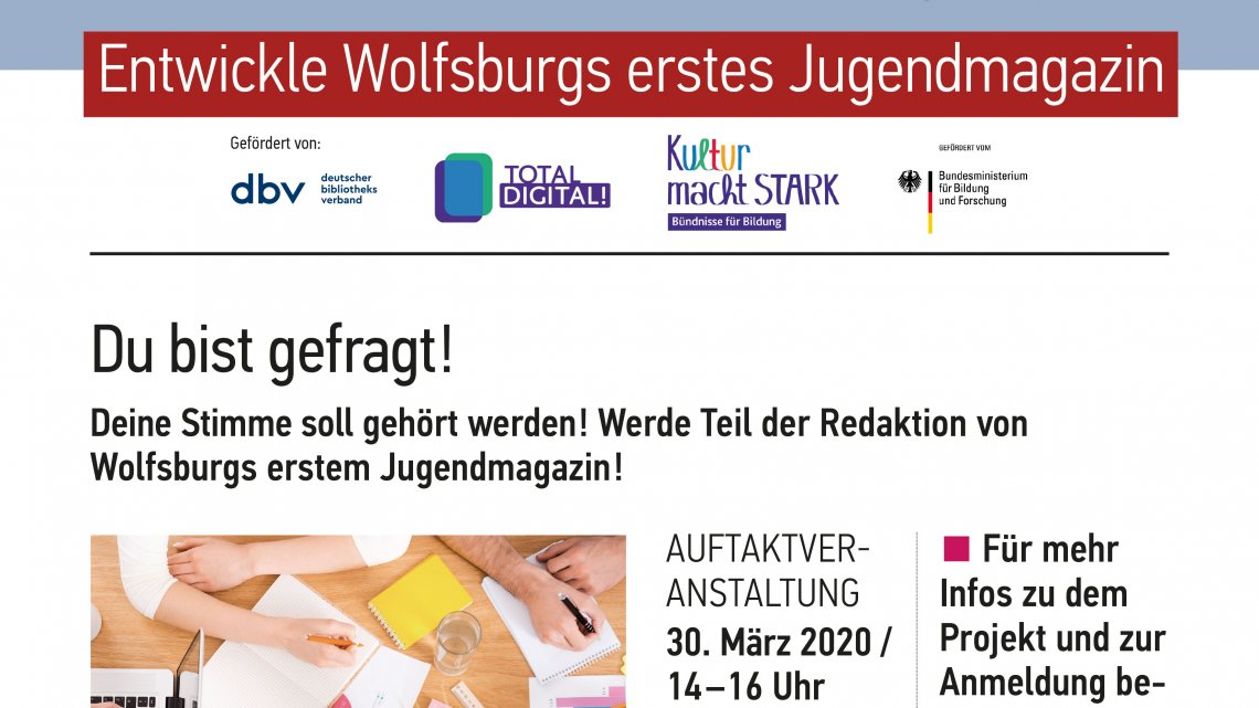 Youths News – Neues Projekt in der Stadtbibliothek Wolfsburg